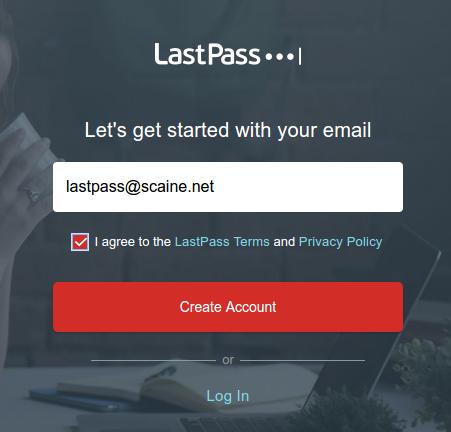 LastPass SignUp