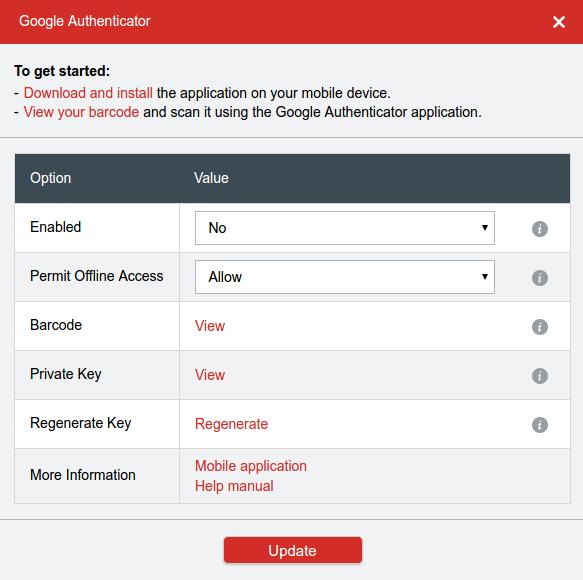 Google Auth options